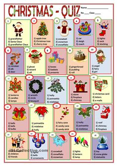 test the vocabulary English Games, English Activities, English Class, English Lessons, Teaching English, Learn English, Christmas Quiz, Christmas Puzzle, English Christmas