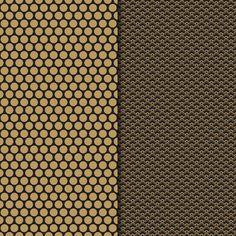 Digital Paper Pack Retro & Vintage Gold on Black - Gidget Designs  - 1