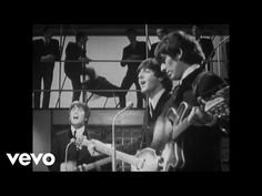 The history of The Beatles – albums, singles, life events of John Lennon, Paul McCartney, George Harrison and Ringo Starr. Can't Buy Me Love, My Love, Good Music, My Music, Music Songs, Music Videos, Soundtrack, The Ed Sullivan Show, Uk Singles Chart