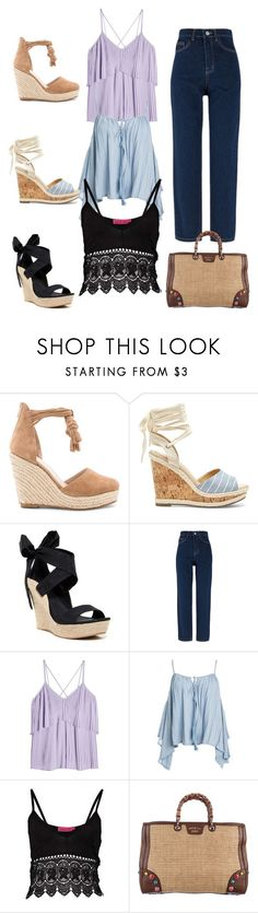 """""""Shoe Stars"""" by parnett ❤ liked on Polyvore featuring Raye, Sole Society, UGG, Elie Saab, Sans Souci and Gucci"""