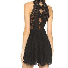 NWT Free People black eyelash dress Beautiful black dress super great deal for a stunning dress!!!!! Free People Dresses Mini