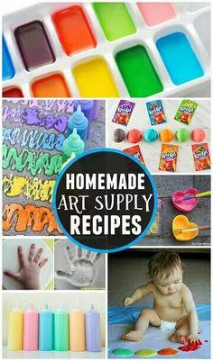 Home made art supplies