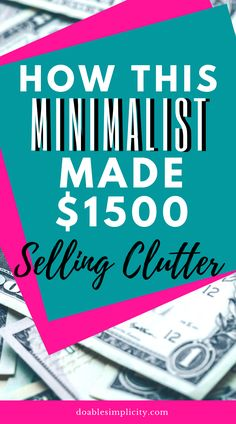Sell Your Stuff, Things To Sell, Earn Extra Income, Need Cash, Making Extra Cash, Make Money Now, Declutter Your Home, Budgeting Money, Yard Sale