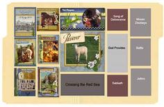 Bible lapbook. Free printable booklets from coordinating scrapbook papers
