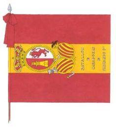 Bandera rojigualda usada en el sitio de Girona.(Guerra de la Independencia) Museo de Ejército. La bandera de la Armada - Singladuras por la historia naval