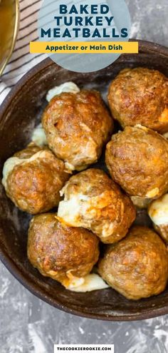 Just when you thought meatballs couldn't get any more delicious These juicy turkey meatballs are stuffed with stringy mozzarella cheese for a fun appetizer that's perfect for game day. Cheesy Meatballs, Cheese Stuffed Meatballs, Buffalo Chicken Meatballs, Parmesan Meatballs, Turkey Meatballs, Game Day Appetizers, Yummy Appetizers, Baked Turkey, Sauteed Vegetables