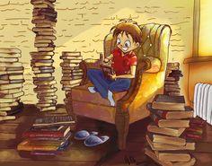 Books books books... by MiamoryHJ on DeviantArt