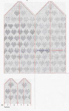 Knitting Charts, Baby Knitting, Knitting Patterns, Crochet Patterns, Knitting Ideas, Knitted Mittens Pattern, Knit Mittens, Knitted Hats, Diagram Chart