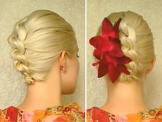 Christmas hairstyles for medium long hair New Years holiday updo