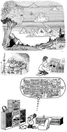 Quino Music Humor, Landscape Drawings, Humor Grafico, Fun Comics, World Of Color, Comic Strips, Comic Art, Illustrators, Nostalgia