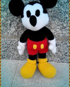 Hello ladies amigurumi related to each other I continue to share with you beautiful recipes. The cute amigurumi crochet mickey mouse free pattern. Crochet Patterns Amigurumi, Amigurumi Doll, Crochet Toys, Free Crochet, Half Double Crochet, Single Crochet, Crochet Mickey Mouse, Crochet Fish, Cute Sheep