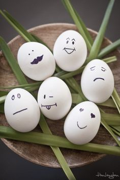 Decoración huevos de pascua fácil y minimal