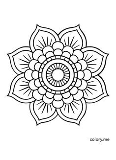 Adult coloring page from Colory App. coloring pages are available for color. - Adult coloring page from Colory App. coloring pages are available for coloring lovers. Mandala Coloring Pages, Colouring Pages, Coloring Books, Simple Coloring Pages, Coloring Sheets, Mandala Art Lesson, Easy Mandala Drawing, Simple Mandala Tattoo, Mandala Pattern
