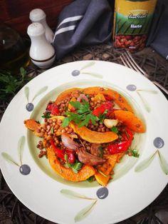 Salata de linte cu dovleac copt - Bucataresele Vesele Ratatouille, Pumpkin, Ethnic Recipes, Salads, Pumpkins, Squash