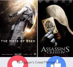 Which movie would you watch? Vote! #assassinscreed #assassins #ubisoft #assassinscreedmovie #aguilardenerha #assassinscreed #assassins #creed #assassin #ac #assassinscreeed2 #assassinscreedbrotherhood #assassinscreedrevelations #assassinscreed3 #assassinscreedblackflag #assassinscreedrogue #assassinscreedunity #assassinscreedsyndicate #altairibnlaahad #ezioauditore #connorkenway #edwardkenway #arnodorian #jacobfrye #eviefrye #pc #xbox #playstation
