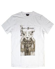 55DSL by Diesel Save the Sinners tee in White 05D0LJ00V51, Free Shipping at CelebrityModa.com