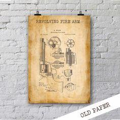 Giro fuego brazo patente Print| Regalo para Soldier| Vaquero Decor| Patente Art| Página Decor| Regalo para Police| Cartel de arma