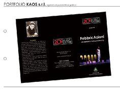 Kaos Agency - Pieghevole 20ChiaviTeatro