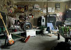 Matt Stokes, Prelude to Cantata Profana: Paroxysm's rehearsal room, Kassel, 2010 Light-jet Print, Diasec Mounted x 120 cm edition of 5 plus 1 a/p Home Music Rooms, Music Studio Room, Drum Room, Guitar Room, Rehearsal Studios, Espace Design, Rehearsal Room, Garage Studio, Garage Workshop