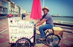 Day off the #bike today & family a trip to the #seaside.  Nice to know I have career options if all else fails. #AATR #allabouttheride #cycling #bicycling #roadcycling #mtb #icecreambike #icecreamseller #icecream #careerchange #lovecycling #cycletography