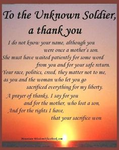 11 Brilliant Ways To Advertise Thank You Quotes And Sayings For Soldiers Military Quotes, Military Life, Military Honors, Military Salute, Military Families, Military Service, Unknown Soldier, My Champion, Know Your Name