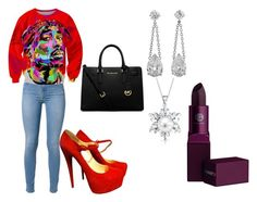 """""""joy"""" by queenkayy-25 on Polyvore featuring 7 For All Mankind, Chicnova Fashion, Christian Louboutin, MICHAEL Michael Kors, Bling Jewelry and Lipstick Queen"""