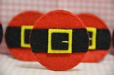Set of 6pcs handmade felt Santa Belt (FT934). $5.00, via Etsy.