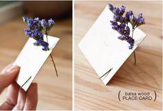 lavender place cards - genius idea!