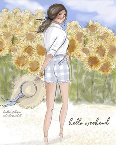 Positive Art, Positive Quotes, Hello Weekend, Sassy Pants, Woman Illustration, Yellow Fashion, Summer Beauty, Illustrations And Posters, Beautiful Artwork