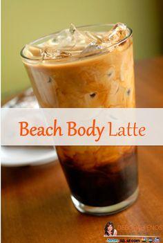 A typical Iced Vanilla Latte at a coffee shop: Calories: 250 Sugar: 36 grams or 9 teaspoons  My 16oz Healthy Beach Body Vanilla Latte: Calories: 105 Sugar: 17.5 grams or 4.3 teaspoons  #coffeerecipe