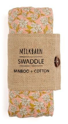 250762a98 ... Barn Chic Boutique for Baby. MilkBarn Baby Bamboo Swaddle Blanket -  Rose Floral Baby Girl Blankets, Baby Swaddle Blankets,