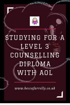 Interested in online study? I have been studying for a Level 3 Counselling Diploma with AOL https://www.beccafarrelly.co.uk/studying-for-a-level-3-counselling-diploma-with-aol/