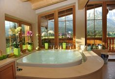 overflow tub!!! oh and looking out onto the mountains is a plus too
