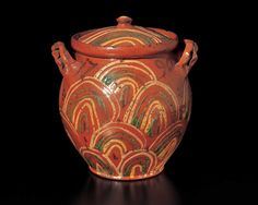 Artist unidentified  Probably Bucks County, Pennsylvania  1790  Glazed red earthenware