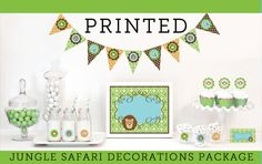 Zoo Animal Birthday Decorations  Jungle Animal Baby by ModParty, $35.00