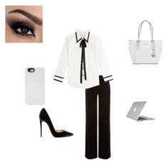 """""""Business look"""" by leydi1 ❤ liked on Polyvore featuring Speck, Armani Collezioni, Marc Jacobs, Christian Louboutin, LuMee and Michael Kors"""