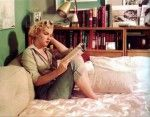 "Marilyn reading ""Leaves of Grass"" (Eleonora Duse's photo behind her)"