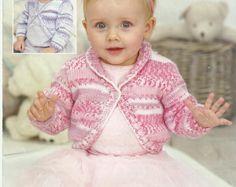 Beautiful Baby/Childs Cardigan Knitting Pattern.