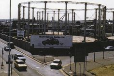 Gas holders in 1989 later taken down for a Tesco store