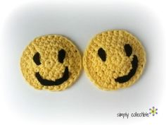 Smiley Applique Coas