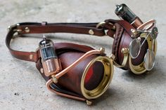 Ocular Enhancers Steampunk Goggles Made from by CraftedSteampunk