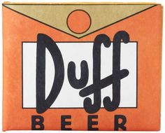 12b8c7e12038b Dynomighty Men s Simpsons Duff Mighty Wallet - Super Thin Lightweight Tyvek  Billfold Duff Beer