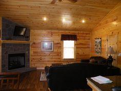 Livingroom inside cabin.