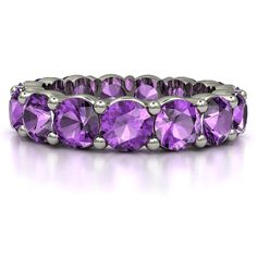 The Band of Brilliance #customizable #jewelry #amethyst #gold #ring #birthstone