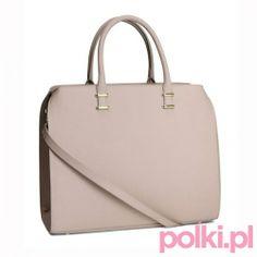 Beżowy shopper, H&M  #polkipl #moda #fashion #trendy