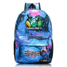 ed2fcd1191 New Minecraft Backpack Royal Oxford Minecraft Glowing School Bag model minecraft  creeper backpack for unisex GAME Birthday gift
