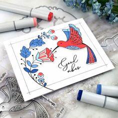 Sending Prayers, Sending Good Vibes, Studio Cards, Distress Oxide Ink, Bird Cards, Simple Colors, Color Blending, Hero Arts, Clear Stamps