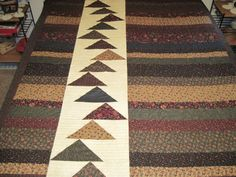 Large Lap quilt in Moda Flying Geese by TheRetiredQuilt on Etsy, $350.00