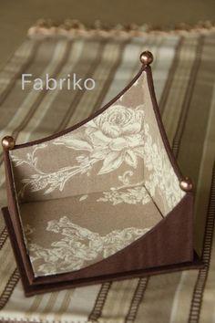 曲線で遊ぶ♪ : Fabrikoのカルトナージュと布小物