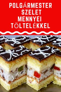 Hungarian Recipes, Hungarian Food, Tiramisu, Cookie Recipes, Cheesecake, Food And Drink, Cookies, Drinks, Ethnic Recipes